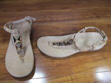 NEW Vionic Rest Nala T-Strap Sandals Womens sz 8 Cork Tan/Gold  $99.99