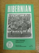 08/10/1977 Hibernian v Ayr United  . Condition: We aspire to inspect all of our