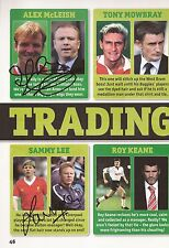 FOOTBALL: ALEX McLEISH & SAMMY LEE SIGNED A4 (12x8) BOOK/ANNUAL PICTURE+COA