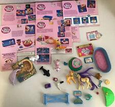 Vtg Kenner Littlest Pet Shop Lot Parts Pieces Backcards