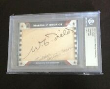 2014 FAMOUS FABRICS MAKING OF AMERICA W.C. FIELDS AUTO AUTOGRAPH 1/1 RARE