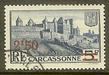 """FRANCE TIMBRE STAMP YVERT N°490 """" CARCASSONNE 2F50 SUR 5F """" OBLITERE TB"""