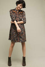 Anthropologie Holding Horses Escalante embroidered western shirt dress size 0