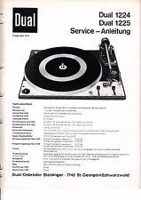 Service Manual-instrucciones para dual 1224, 1225
