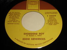 Eddie Kendricks: Shoeshine Boy / Hooked On Your Love 45 - Soul