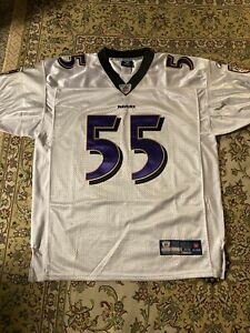 NEW AUTHENTIC TERRELL SUGGS BALTIMORE RAVENS THROWBACK VINTAGE REEBOK JERSEY 48