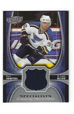Pavol Demitra, 2005-06 Upper Deck Power Play Specialists Jersey Card, # TS-PD