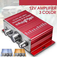 Mini 2 Channels Hi-Fi Subwoofer Stereo Audio Amplifier Amp Car Motorcycle