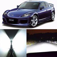 Alla Lighting Low Beam Headlight H7 White LED Conversion Kit Bulb for Mazda RX-8