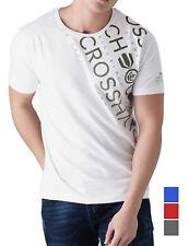 CROSSHATCH Herren T-Shirt FADES OUT CH SHOULDER PRINT TEE kurzarm