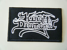 KING DIAMOND PATCH Embroidered Iron On Sew On Heavy Thrash Speed Black Metal NEW