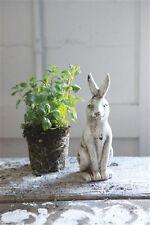 Antique White BUNNY RABBIT STATUE*Primitive/French Country Farmhouse Decor
