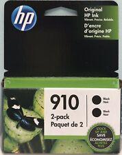 HP 910 2-PACK (3JB40AN) GENUINE BLACK INK CARTRIDGE EXP 10/21 , NEW IN BOX
