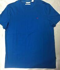 Calvin Klein Short Sleeve Jersey Crew Neck T-Shirt (Crystal Sea) Men's Clothing,