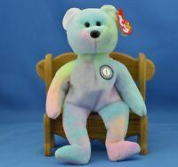 B.B. Bear TY Beanie Baby Birthday Pastel Tie-dyed Colorful Mix MWMT 1999