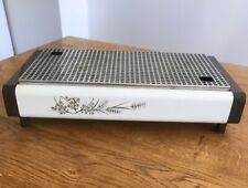 Vintage Brabantia 2 burner food warmer/hotplate- retro wheat and flowers design