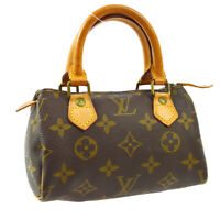 LOUIS VUITTON MINI SPEEDY 2WAY HAND BAG TB2129 PURSE MONOGRAM M41534 A46615b