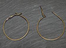 lot de  10 anneaux créoles Bronze Antique sans nickel 35mm ,Boucles D'Oreilles