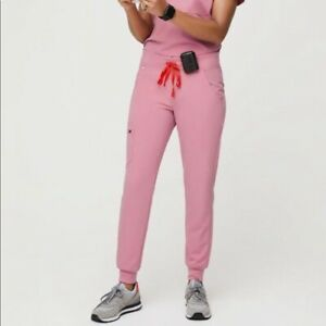 NWT FIGS Women's Chalk Pink Regular Zamora Jogger Scrub Pants Small
