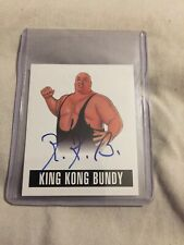 King Kong Bundy Certified 2014 Leaf Auto Autograph Signed Card WWE WWF Wrestling