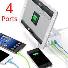 4-Port Multi-Port【Smart Charging】Station USB Charger Desktop Travel Hub WF