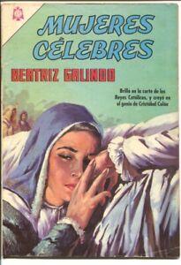 Mujeres Celebres #63-1966-Beatriz Galindo.-Spanish language-VG