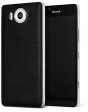Mozo Microsoft Lumia 950 Qi Wireless Charging Back Cover Case with NFC - Black/S