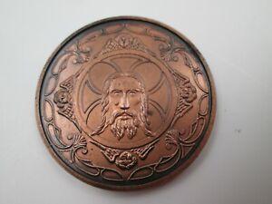 Medalla de cobre. V Centenario de la Santa Faz. Alicante, 1989. Relieve