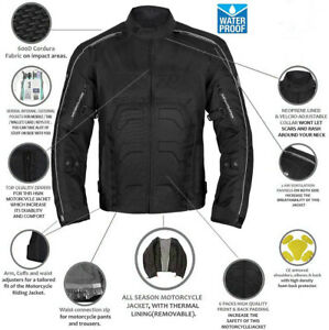 Motorcycle Racing Protection Jacket WATERPROOF ARMORED Ventilated All Weather