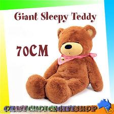 70CM Giant Huge Cuddly Stuffed Fluffy Plush Sleepy Teddy Bear Animal Cute Gift