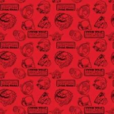 Camelot Cottons Angry Birds Star Wars 73300108 2 Red Outlines   Cotton Fabric