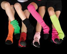 Leg warmers, Stirrup Bright Colours 40cm, Fluro, Dance, Costume, 80 s,inc Pink