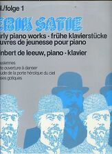 ERIK SATIE early piano works VOL 1 reinbert de leeuw HOLLAND EX LP + BOOKLET '80
