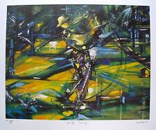 """DUAIV """"GOLF SWING"""" Hand Signed Limited Edition Art Lithograph"""
