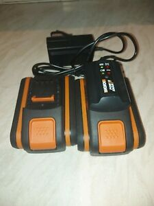 Worx 20v 2ah batteries and charger