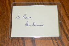 Don Dennis, St Louis Cardinals, White Sox signed Cut Autograph