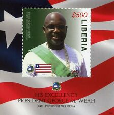 Liberia 2018 MNH President George Weah 1v S/S II Football Famous People Stamps