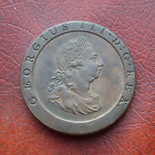 George III 1797 9 over inverted 9 in date cartwheel copper penny