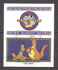 Walt Disney, Micky, Weltreise, Pluto, Känguruh - Malediven - Bl.219 ** MNH 1992