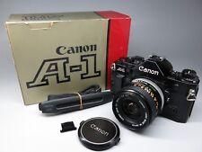 Canon A-1 35mm SLR Film Camera Body working w/ FD 28mm f/2.8 f2.8 lens