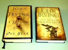 2 SIGNED 1st EDITIONS Books JOHN IRVING LAST NIGHT TWISTED RIVER WIDOW ONE YEAR
