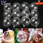 5-100Pc Clear Balls Baubles Sphere Fillable     Tree Ornament Gift UK