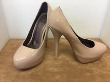 Truffle Nude Stiletto Patent Court Shoes Size 4