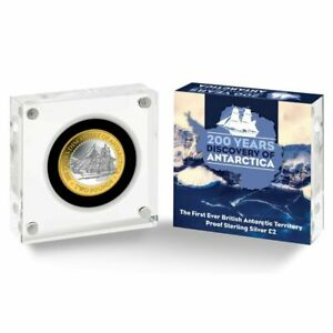 200 Years Discovery of Antarctica 2020 £2 Pound Silver Proof Coin extremely rare