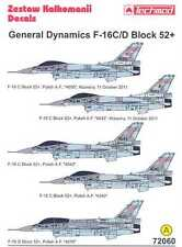 Techmod Decals 1/72 GENERAL DYNAMICS F-16C F-16D BLOCK 52+ Fighter