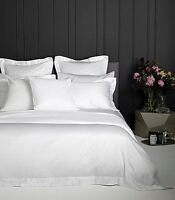 100% Cotton SINGLE, DOUBLE, KING, SUPER KING, Size Duvet Cover SET PLAIN WHITE
