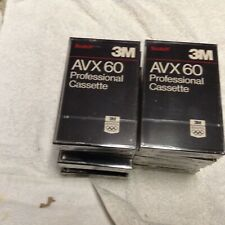 NEW 3M AVX 60 Professional Audio Cassette Tapes 10 Pack Sealed Normal Bias
