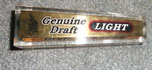 Vintage Square Miller Genuine Draft Light Beer Tap-NICE