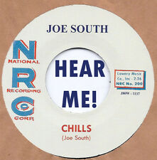 ROCKABILLY REPRO: JOE SOUTH - Chills/I'm Snowed NRC - KILLER 2-SIDER!