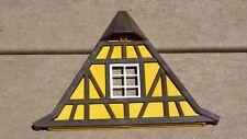 Vintage 1993 Playmobil Medieval  Caste 3666 Dormer Wood Frame Wall Yellow